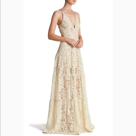 68865e43ce Dress the Population Dresses | Melina Lace Fit Flair Xl | Poshmark